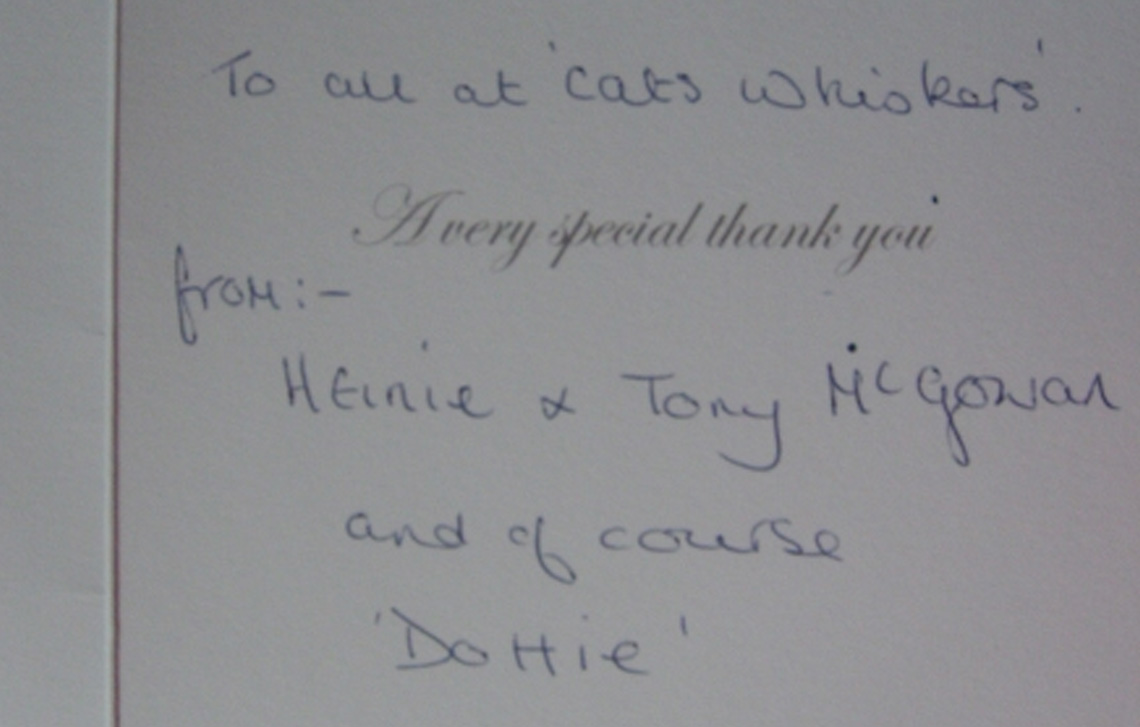 Thank you from Dottie