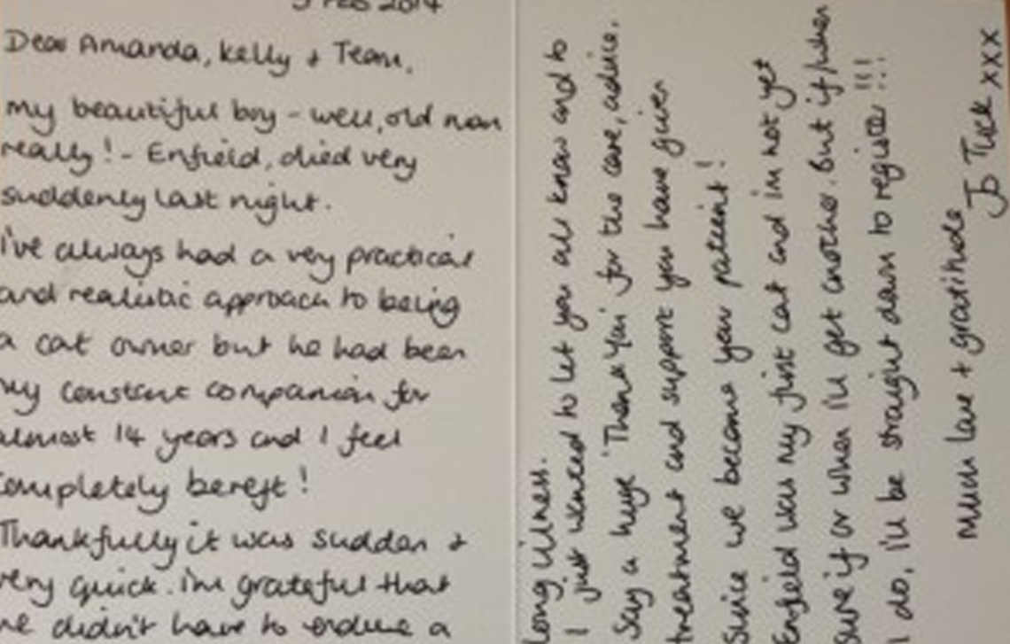Thank you from Jo T (Enfield)