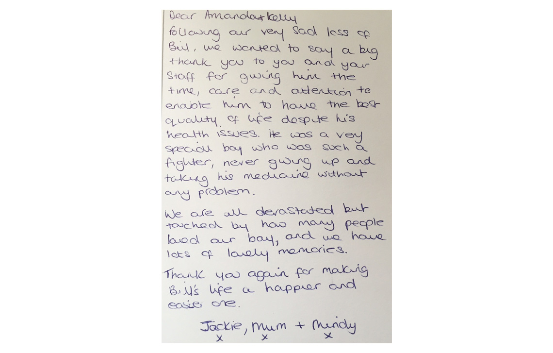 Thank you from Jackie, Mum and Mindy