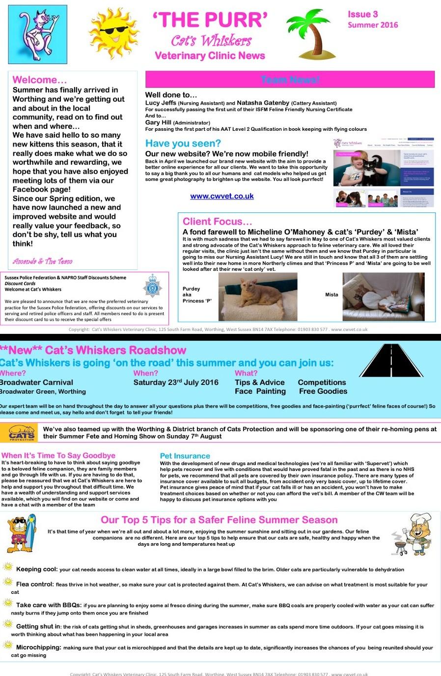 CWVET Newsletter Summer 2016 jpg