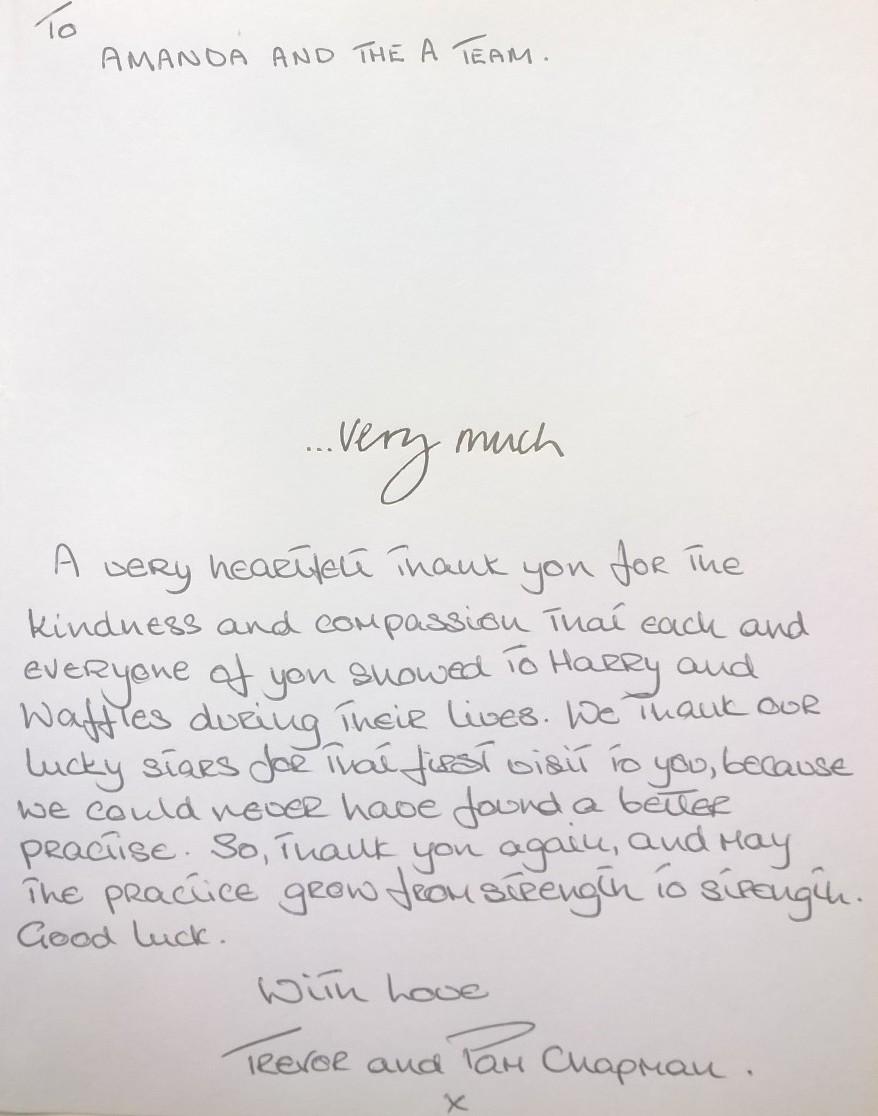 HARRY & WAFFLES inside card